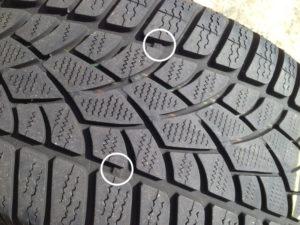 Testigo neumático de taco de goma